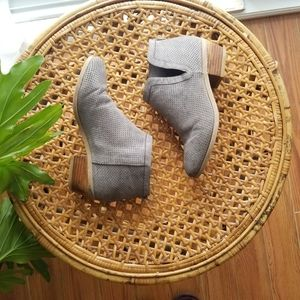 2/20$ Spring Booties Ankle Boot Vegan Faux Suede